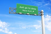 Highway Sign - Sleep — Stock Photo