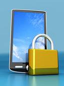 Smartphone Lock — Stock Photo