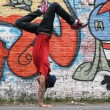 Vertical Breakdance - Stock Photo