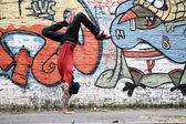 Vertical Breakdance — Stock Photo
