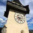 Stock Photo: Clock tower in Graz
