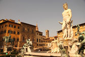 Fountain of Neptune in Florence — Foto de Stock