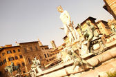 Fountain of Neptune in Florence — Stock Photo