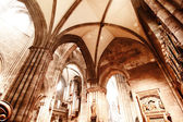 Interior of the Freiburg Muenster — Stock Photo