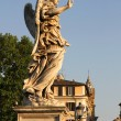 Statues on the Ponte Sant Angelo - Stock Photo