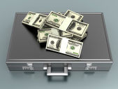 Briefcase with Cash — Stock Photo
