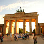Brandenburger Gate in Berlin — Stock Photo
