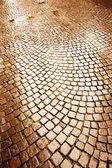 Cobblestone pavement in Verona — Stock Photo