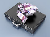 Briefcase with Cash — 图库照片