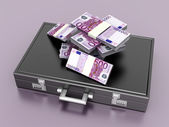 Briefcase with Cash — Stockfoto
