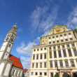 Townhall of Augsburg with St. Peter — Stock Photo #28420267
