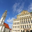 Stock Photo: Townhall of Augsburg with St. Peter