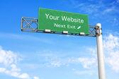 Highway Sign - Your Website — Stock Photo