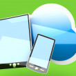 Stock Photo: Mobile Cloud