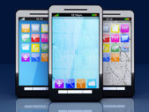 Smartphones — Stockfoto