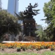 Fountain and Landmark in Santiago de Chile — Stock Video