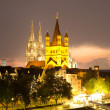 Cologne at night — Lizenzfreies Foto
