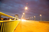 Nightly Bridge in Cologne — Stock Photo