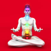 Chakra Meditation — Stock Photo