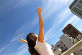 Urban Yoga — Stockfoto