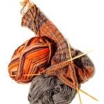 Knitting Socks — Stock Photo