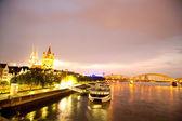 Köln, gece — Stok fotoğraf