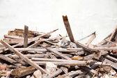 Trash of a demolished House — Stock Photo