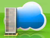 Cloud computing — Stockfoto