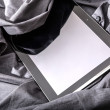 Tablet PC on a shirt — Stock Photo