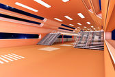 Interior de estação espacial — Fotografia Stock
