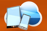 Mobile Cloud — Stock Photo