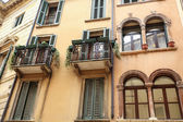 Historic architecture in Verona — 图库照片