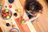 Cutting fruits — Stock Photo
