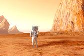 Astronaut on Mars — Stock Photo