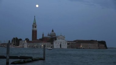 Nightfall in Venice — Stock Video
