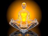 Yoga meditasyon poz — Stok fotoğraf