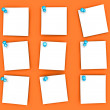 Stock Photo: Pinned paper notes