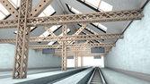 Antique Train Station — Zdjęcie stockowe