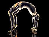 Yoga - urdhva dhanurasana — Foto de Stock