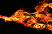 Bursting flame — Stock Photo