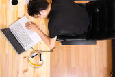 Sleeping in the office — Stock Photo