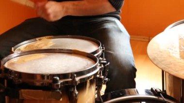 Drumming — Stock Video