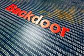 Backdoor — Stock Photo