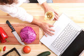 Internet Cooking — Stock Photo