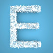 Frozen Letter - E — Stock Photo #47959419