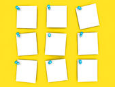 Pinned paper notes — Stock Photo