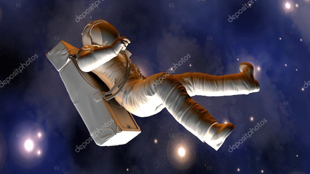Astronauta Flotando En El Espacio Exterior: Astronauta Flotando En El Espacio