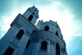 The famous University Church in Salzburg	 — Foto de Stock