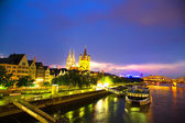 Cologne at night — Stockfoto