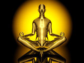 йога медитация поза — Стоковое фото